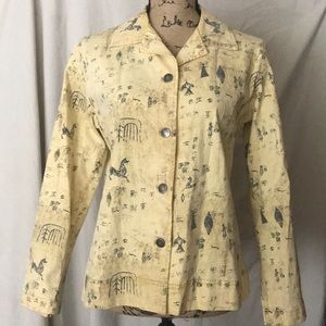 Chico's lightweight printed jacket Size 1